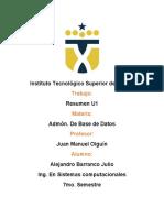 Resumen unidad 1 Administración de Base de Datos