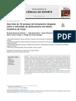 Oliveira et. al. - Descrição de 18 semanas de treinamento integrado sobre a velocidade de deslocamento em atletas brasileiros de futsal