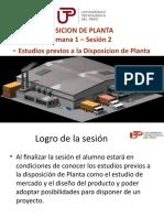 DISPOSICION DE PLANTA - UNIDAD 1 - SEMANA 1 - SESION 2