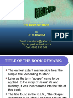 The book of Mark(1)
