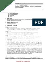 Contrato e diretrizes de segurança e saúde do trabalho para empresas contratadas