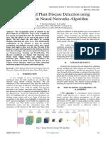 Image Based Plant Disease Detection Using Convolution Neural Networks Algorithm