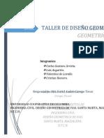 TALLER 3 DISEÑO GEOMETRICO DE VIAS