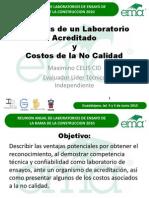 P. 08 M. CELIS. Ventajas Lab. Acred. y Costos No Calidad