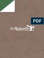Carta Comida La Bodeguilla 2020