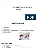 10. CLASSIFICATION OF WORK RISKS