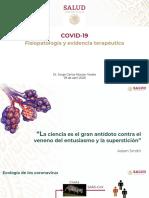 CP Salud COVID-19 fisiopatología y evidencia terapéutica, 29abr20
