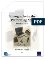 Ethnography in the Performing Arts