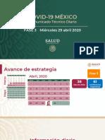 CP Salud CTD coronavirus COVID-19, 29abr20