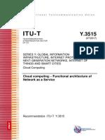 T-REC-Y.3515-201707-EN Computación en la nube - Arquitectura funcional de la red como servicio