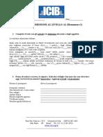 TEST DI AMMISSIONE AL LIVELLO A2 (Elementare 3)