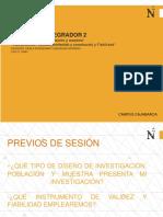 Revisión de Diseño, población y muestra