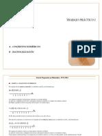 TP 1. Conj. Numéricos y Racionalización