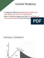 Statistics for Social Science 1