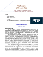 Bishop Gregory Grabbe comments on the Canons of the Apostles