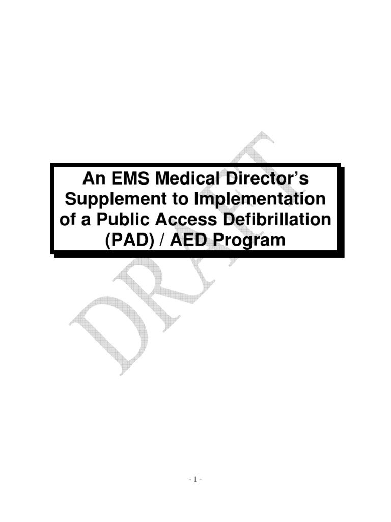 An EMS Medical Director's Supplement to Implementation of