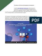 Innumerable Advantages That Makes .NET the Best Web Application Development Framework-Pixel Values Technolabs