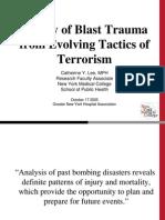 20051017 Survey Blast Trauma