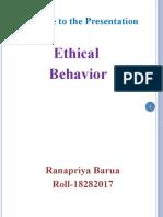 Ethical Behavior 02.07.19