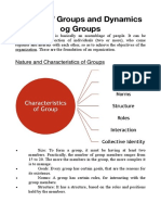 Nature and Dynamics of Groups