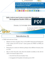 Defis a Relever Pour La Mise en Oeuvre Des Objectifs de Developpement Durable Odd Au Senegal - Dr. Suwadu Sakho-jimbira - Ipar Senegal