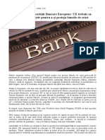 Preşedintele Autorităţii Bancare Europene_ UE trebuie să-şi unească forţele pentru a-şi proteja băncile de criză