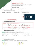 lecon 13 Calcul littéral