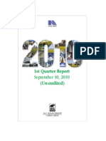 1st Quarter Report 2010-2011