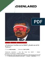 ¿Podemos Confiar en la OMS  ¿Quién es el Dr Tedros  – Kaos en la red