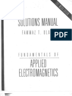 Solution Manual Fundamentals Of Applied Electromagnetics