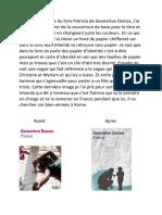 Pour la couverture du livre Patricia de Geneviève Damas