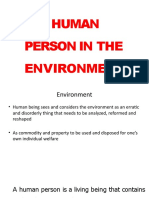 Human Person in Environment