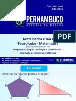 Polígonos triângulo- definição e classificação- resolução de situações problemas