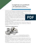 Principais exigências em acreditação para o setor de Engenharia Clínica