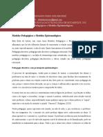 Ficha de Leitura( Modelos Pedagógicos e Modelos Epistemológicos)
