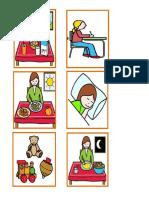 pictograma rutina en el hogar NIÑA