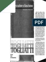 TOGLIATTI, Palmiro. Lições Sobre o Fascismo