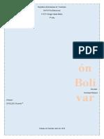 Cronología de Simón Bolívar