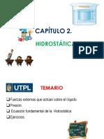 2. Presión e Hidrostática
