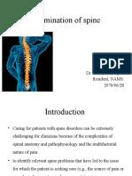Examination of Spine
