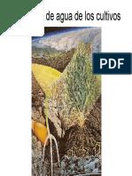Necesidades de agua en los cultivos[1]