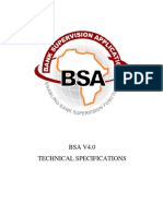 BSA Technical Specifications