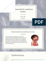Enfermedad de membrana hialina y traquipnea transitoria del RN