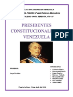 1er TRABAJO DE LOS PRESIDENTES DE VZLA DESDE 1830 HASTA 1900 enviado