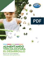 Brochure de Sustentabilidad 2019 de Grupo Arcor