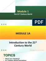 PPT 1A I Module 1 I The 21st Century World