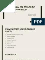 ALTERACIÓN DEL ESTADO DE CONCIENCIA
