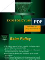 Exim Policy 2004-2009 Ppt