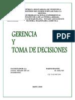 TRABAJO 5 GERENCIA Y TOMA DE DECISIONES