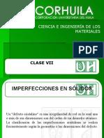 CLASE7. IMPERFECCIONES EN SOLIDOS.ppt